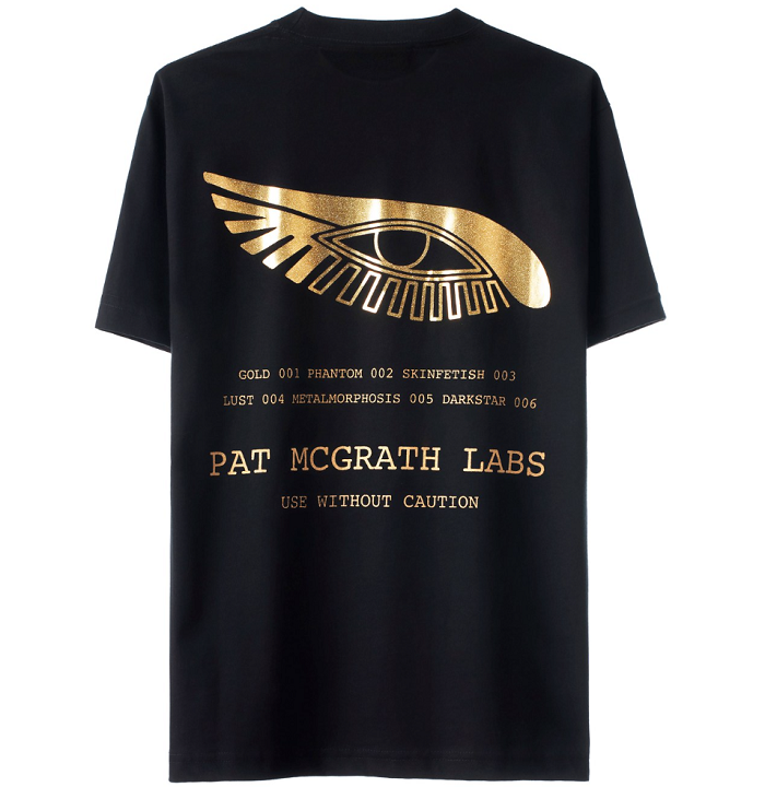 "Pat McGrath Unveils Merch Line ""Apparel 001"" black T-shirt"