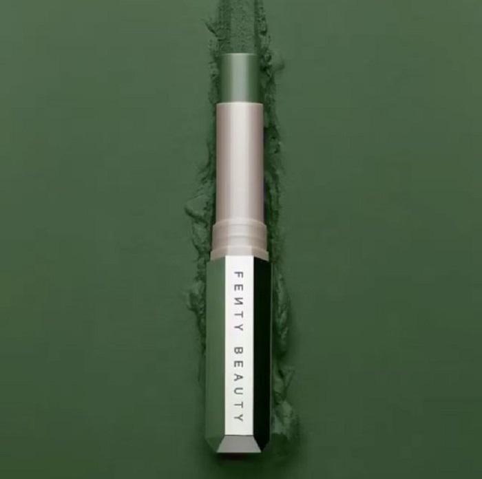 Rihanna Reveals Mattemoiselle Matte Lipsticks Fenty Beauty green lipstick