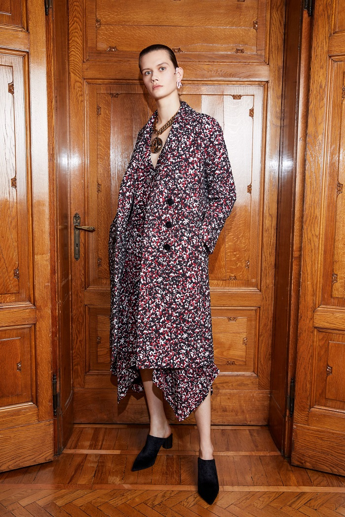 Roberto Cavalli Pre-Fall 2018 Collection floral coat dress