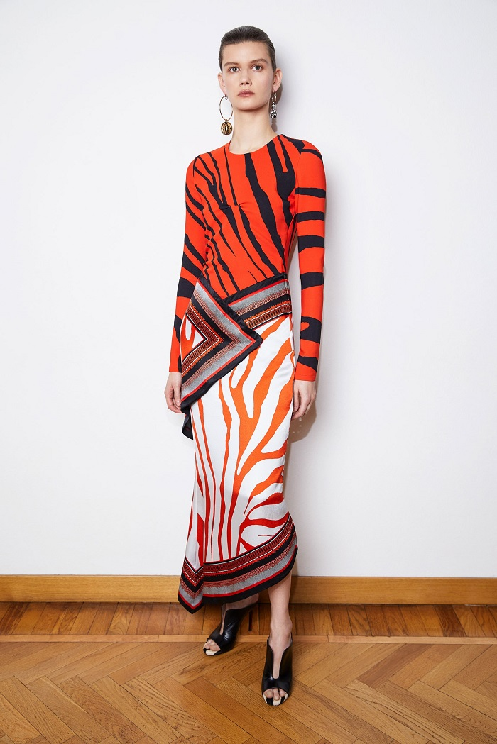 Roberto Cavalli Pre-Fall 2018 Collection patterned maxi dress