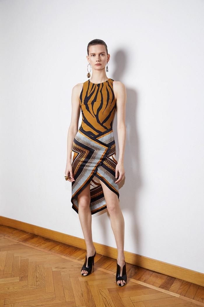 Roberto Cavalli Pre-Fall 2018 Collection patterned mini dress