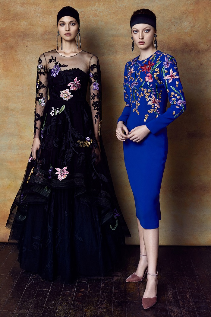 Sachin & Babi Pre-Fall 2018 Collection floral black dress floral blue dress