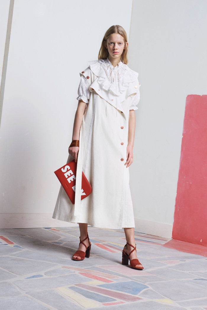 See by Chloé Pre Fall 2018 Collection ruffle dress