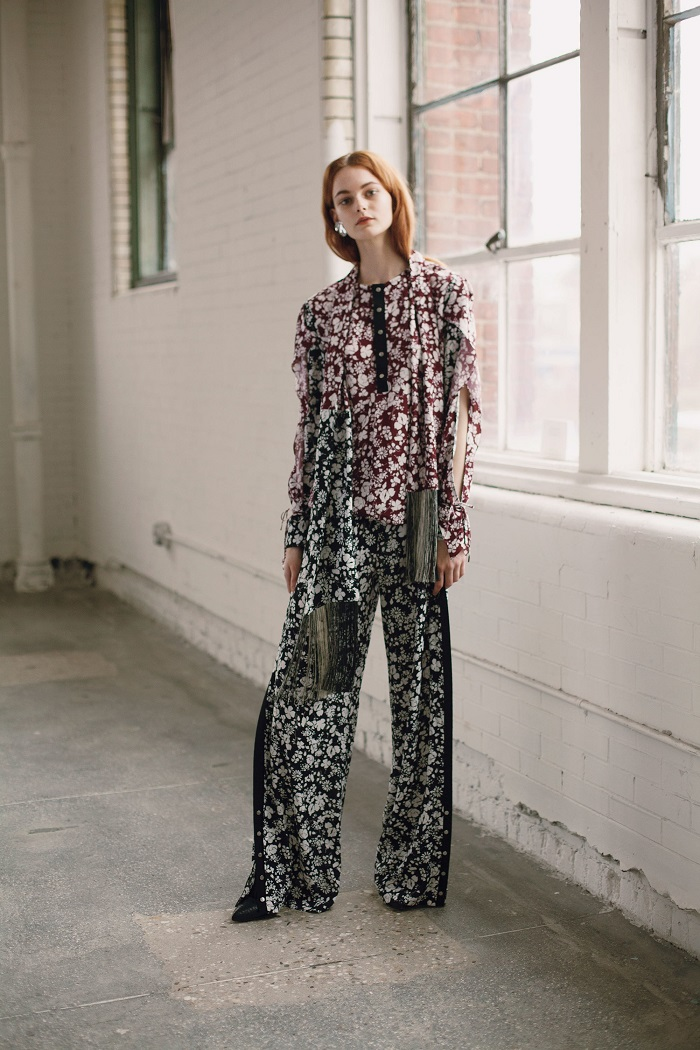 Yigal Azrouël Pre-Fall 2018 Collection floral pants blouse