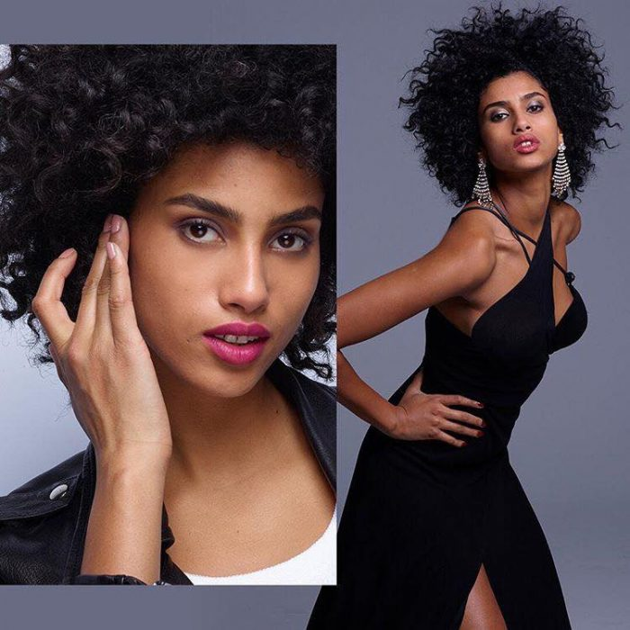 Adwoa Aboah, Ashley Graham & More Join Revlon's Live Boldly Campaign Imaan Hammam black dress