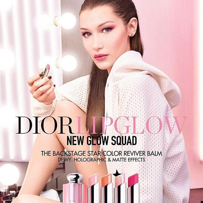 Bella Hadid Stuns In Dior's Lip Glow Campaign Dior Lip Glow collection