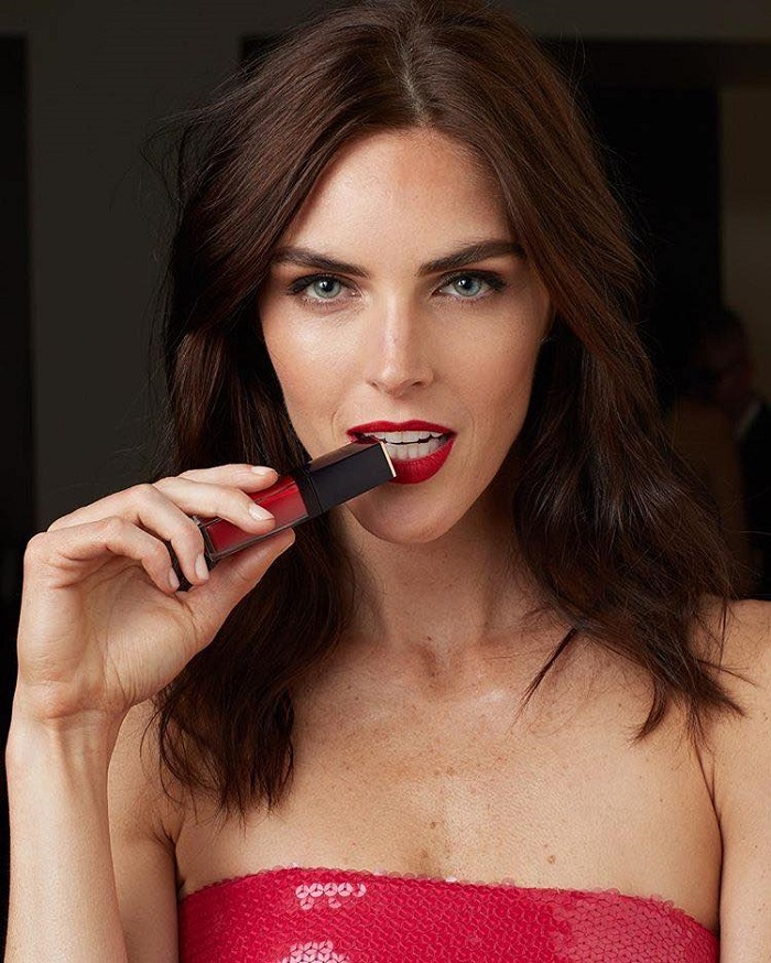 Estée Lauder's Pure Color Envy Liquid LipColor Campaign Hilary Rhoda