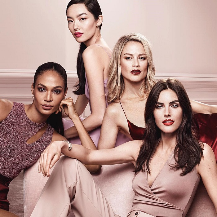 Estée Lauder's Pure Color Envy Liquid LipColor Campaign Fei Fei Sun Hilary Rhoda Carolyn Murphy Joan Smalls