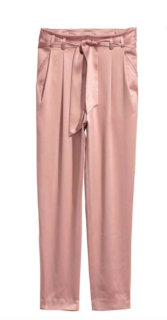 Get These Antique Rose Satin Pants From H M Here. b5bf281d4b