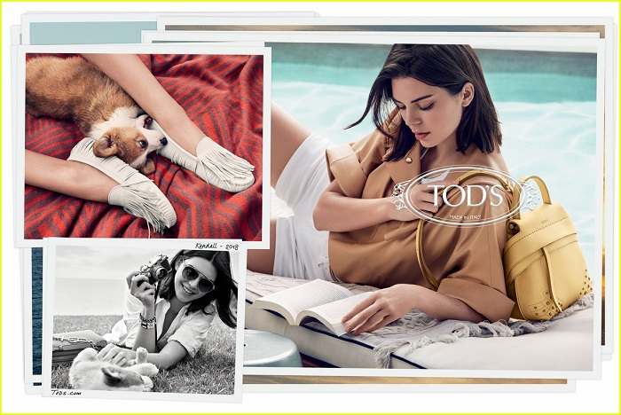 Kendall Jenner Fronts Tod's Spring 2018 Campaign white shorts camel top