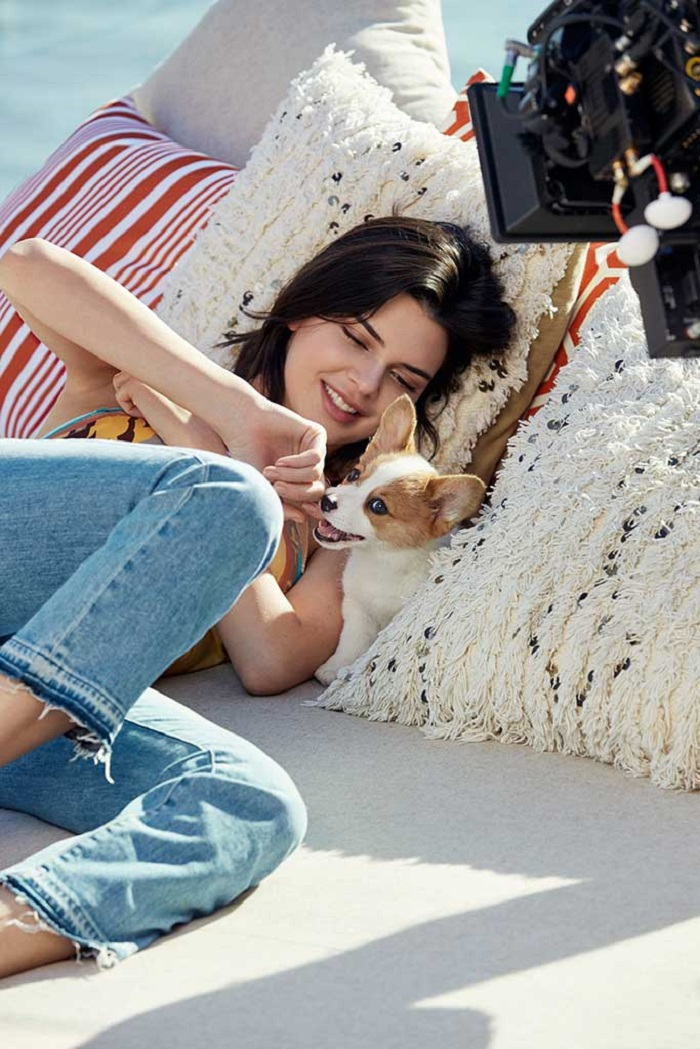 Kendall Jenner Fronts Tod's Spring 2018 Campaign jeans corgi