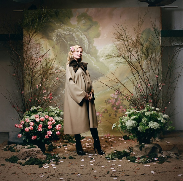 Kirsten Dunst & Ava Phillippe Stun In Rodarte's Fall 2018 Campaign camel coat