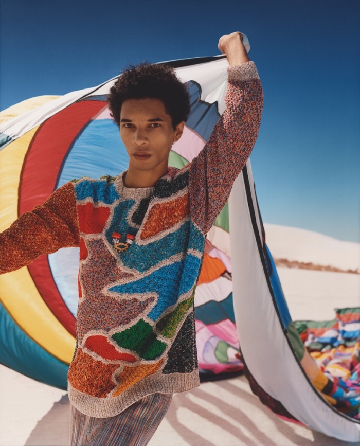 Missoni's Spring Summer 2018 Ads Feature Kendall Jenner colorful sweater