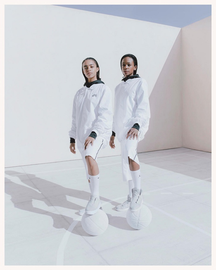 Nike's Reimagined 1 Collection Is All About Female Empowerment white jackets shorts