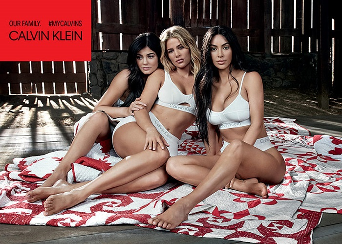 The Kardashian Jenner Sisters Front Calvin Klein's New Ads white underwear bran panties