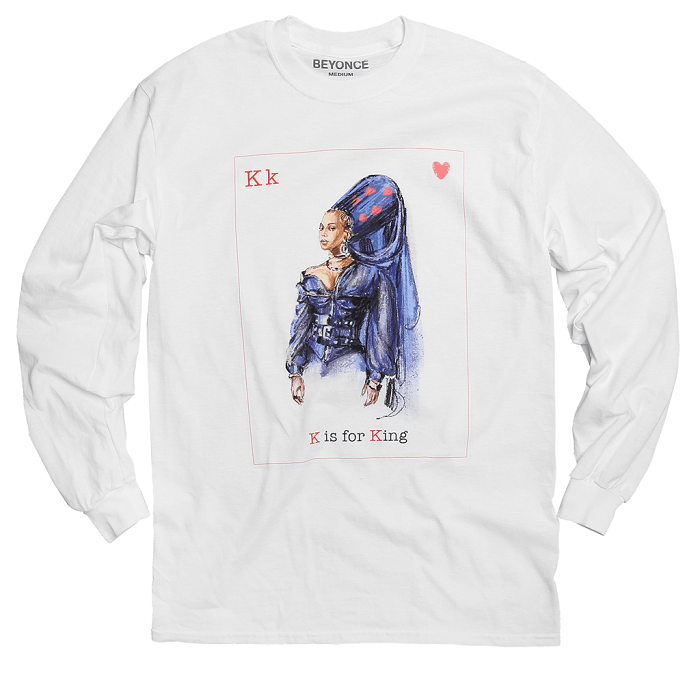 Beyoncé Drops Valentine's Day Merchandise king sweatshirt