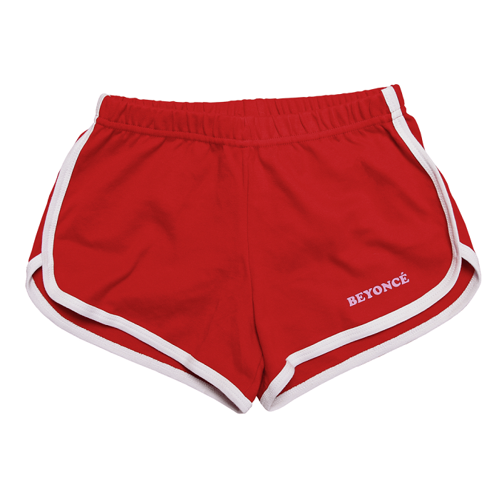 Beyoncé Drops Valentine's Day Merchandise red shorts
