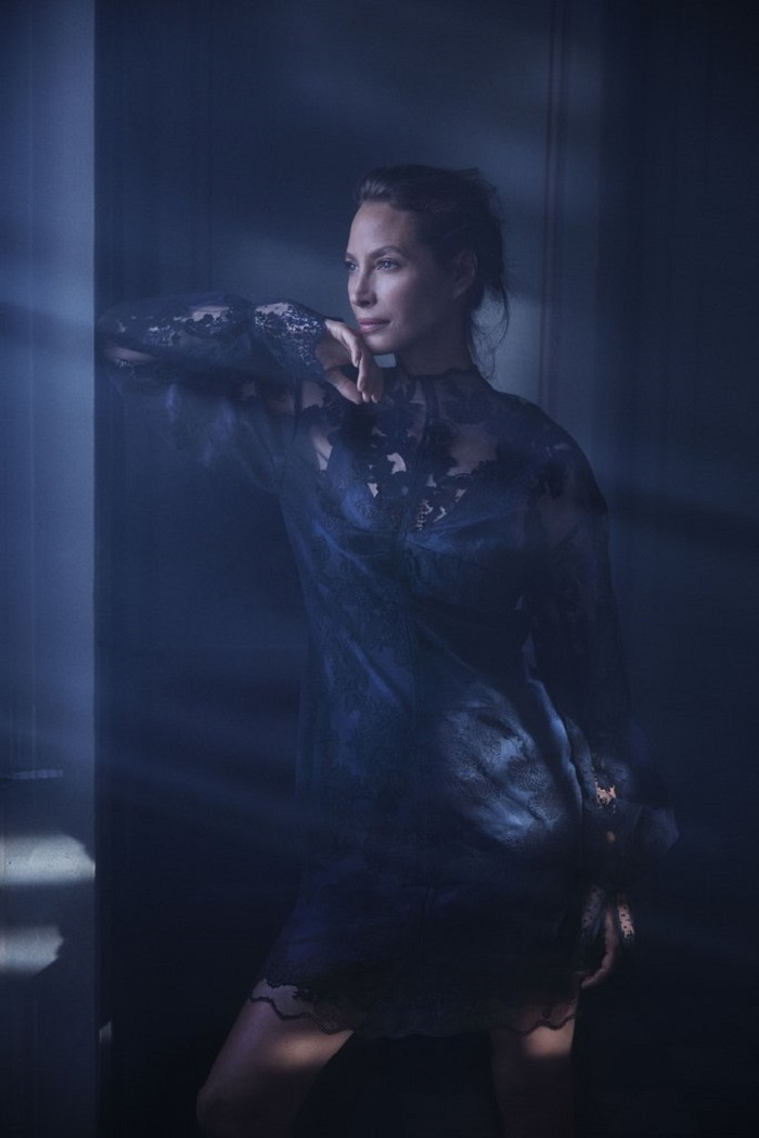 Christy Turlington Stuns in H&M's Conscious 2018 Ads lace dress