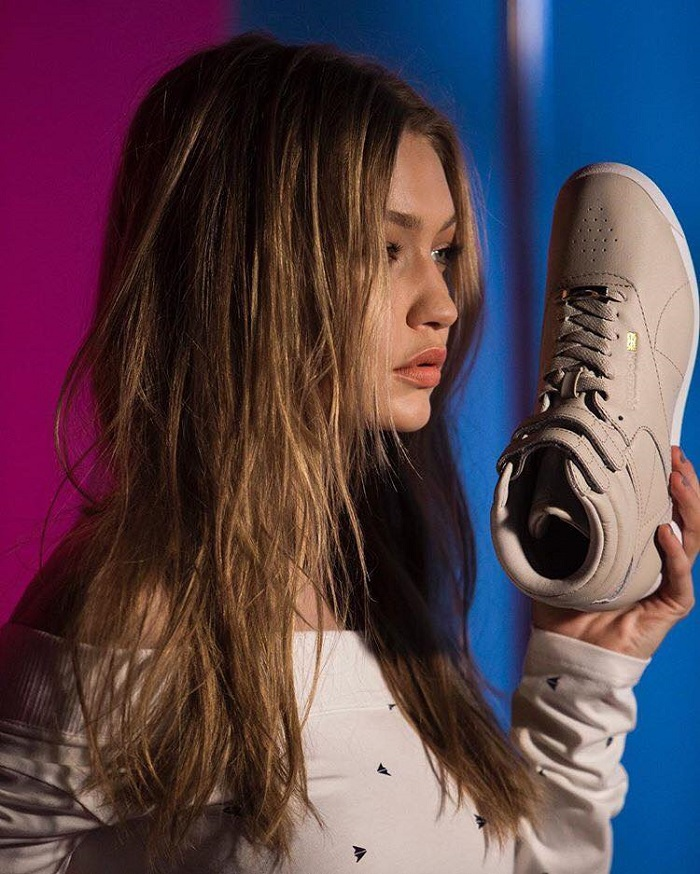 Gigi Hadid Sports the Freestyle Hi in Reebok Classic's New Campaign