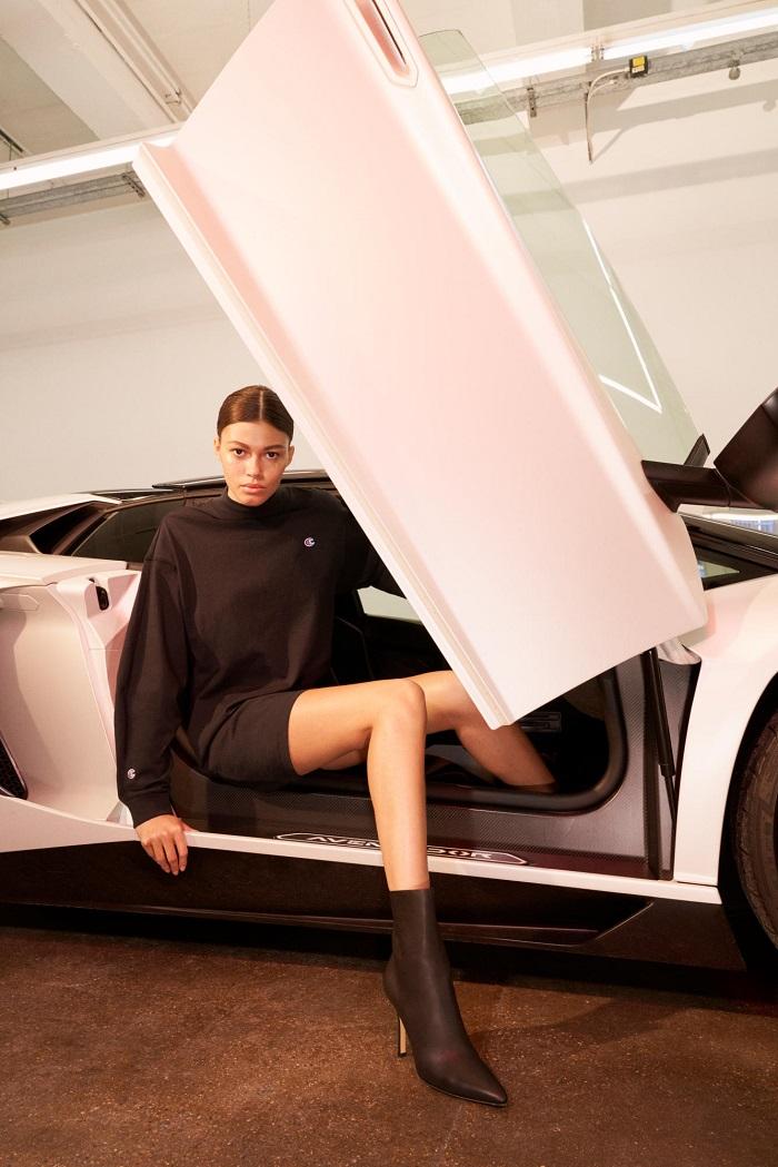 KITH Debuts Net-a-Porter Partnership with A Champion Collab black long sweatshirt