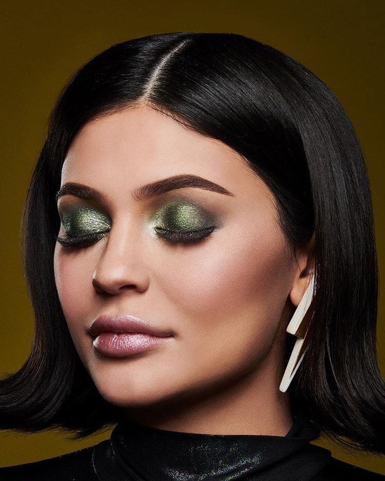 Kylie Jenner's Daughter Stormi Already Has Her Own Makeup Collection green makeup