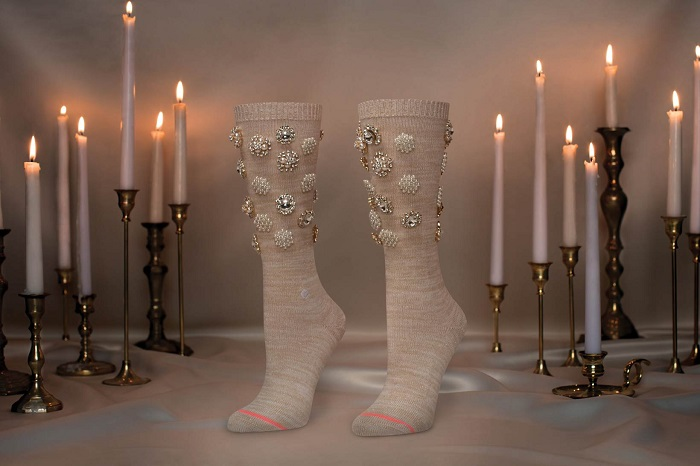 Rihanna x Stance Valentine's Day Collection Fenty Cold Hearted cream socks