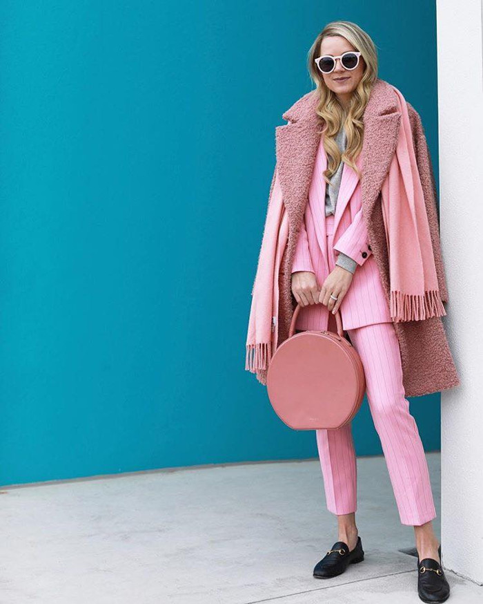 Style Guide How to Protest The Winter Weather all pink outfit