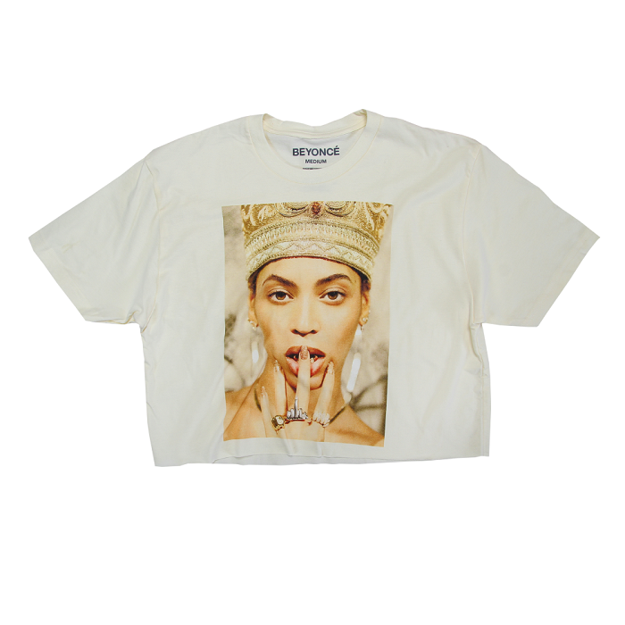 Beyoncé Dropped Nefertiti-Inspired Merch white crop top