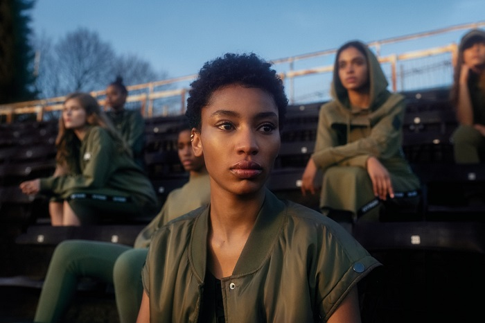 "Ivy Park Releases ""Strong Beyond Measure"" SpringSummer 2018 Campaign olive green jacket hoodie"