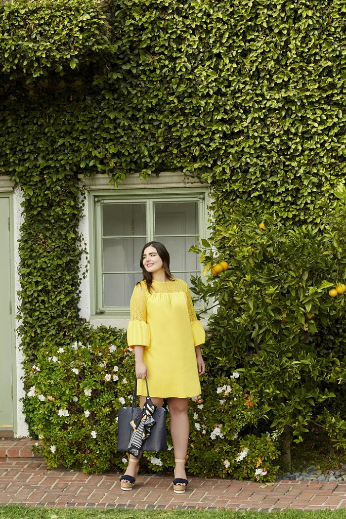 Reese Witherspoon's Draper James Gets into Plus Sizing with Eloquii yellow dress