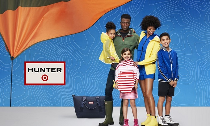 Target and Hunter Announce Limited-Edition Collab rain boots yellow kids jacket white dress yellow womens jacket olive green mens jacket kids multicolored jacket blue kids bomber