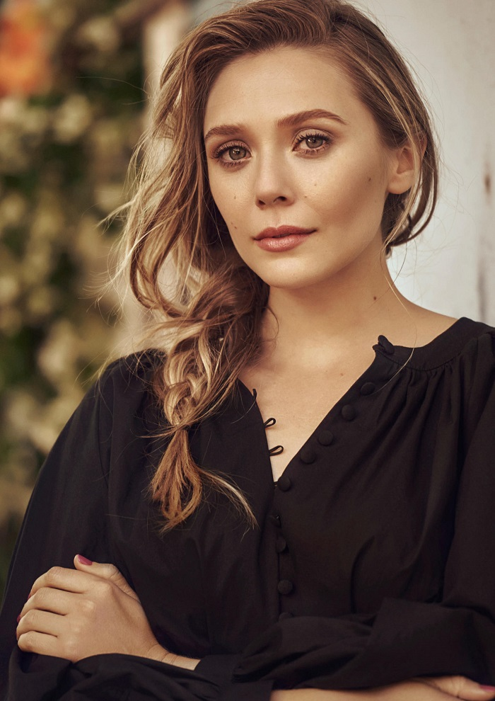 Winona Ryder and Elizabeth Olsen Front H&M's Spring 2018 Campaign black shirt voluminous shirt