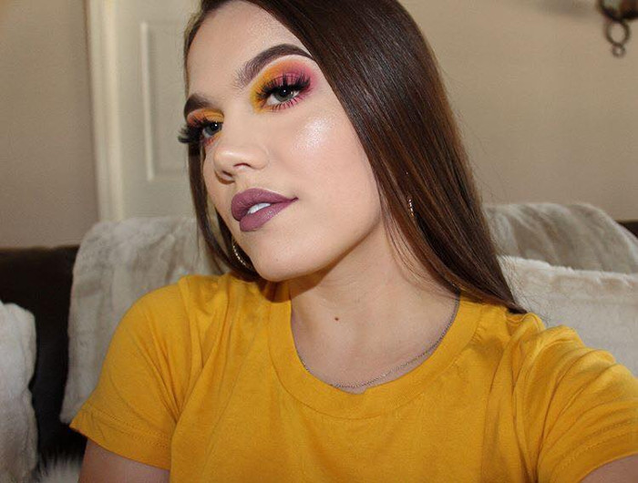 Yellow Madness How to Pull Off Springs Hottest Eyeshadow yellow and purple makeup