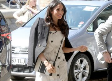 Meghan Markle Stuns in a White Spring Dress