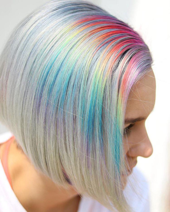 Prism Roots The Colorful Dye Job You Need This Summer rainbow hair