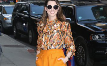 Anne Hathaway Demos How to Wear Bright Colors From Head to Toes