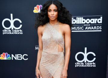Ciara Flaunts Everything in a Glitzy Sheer Dress