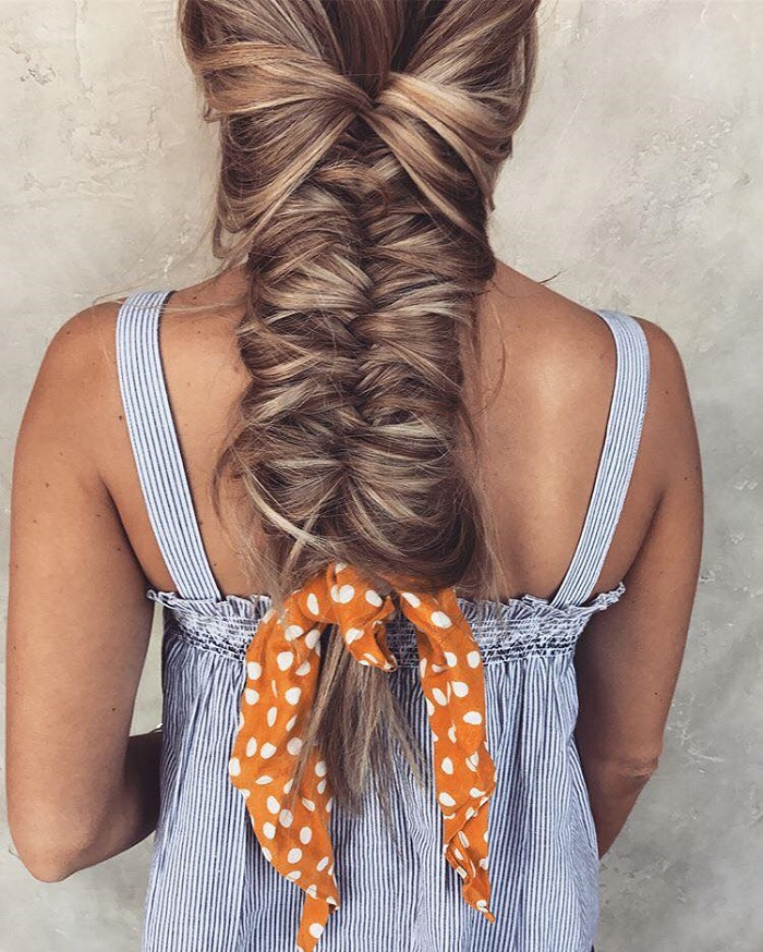 Fun Hairstyles To Rock At The Beach fishtail braid