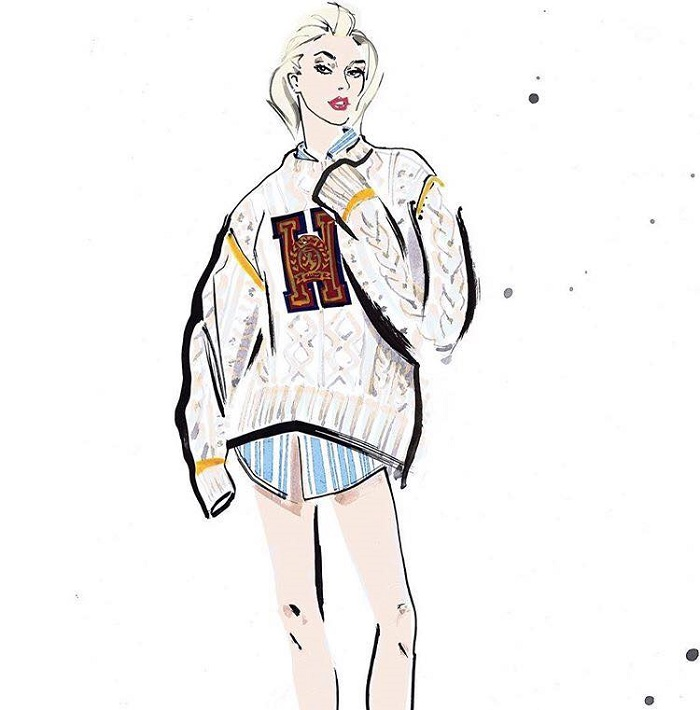 Hailey Baldwin & Winnie Harlow Are Tommy Hilfiger's New Ambassadors sketch