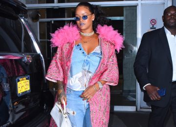 Rihanna Wore a Denim Skirt as a Top While Teasing Savage x Fenty