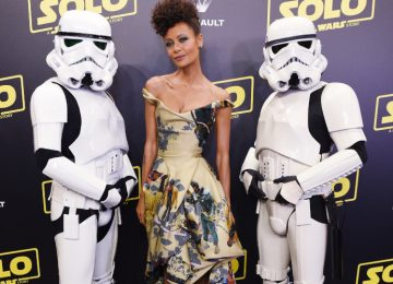 "Thandie Newton Wore Black ""Star Wars"" Characters On Her Dress"