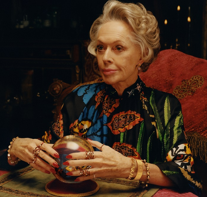 Tippi Hedren Fronts Gucci's Jewelry Campaign at 88 rings bracelets
