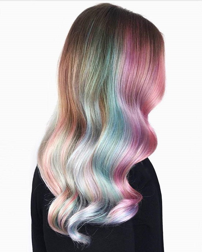 Biggest Hair Color Trends for Summer 2018 pearl rainbow