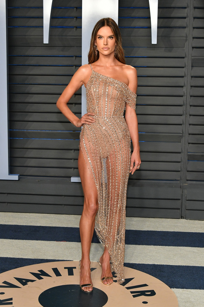 Celeb Obsession Sexiest Nude Dresses on The Red Carpet Alessandra Ambrosio