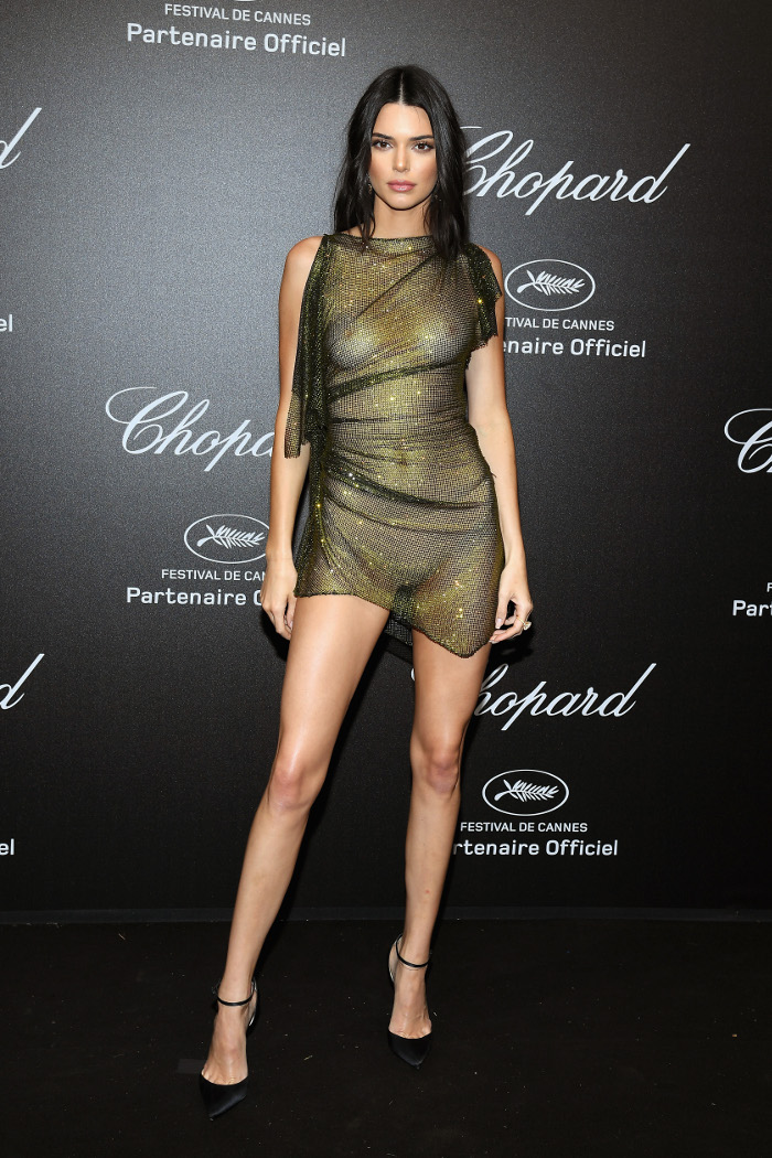 Kendall-Jenners-Sexiest-Most-Naked-Looks sheer dress