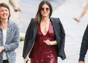 Sandra Bullock Makes a Case for Daytime Sequins