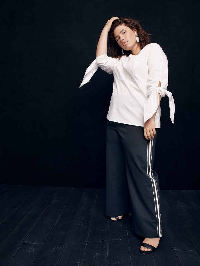 J. Crew's New Collection Has Sizes Up To 5X white shirt black pants