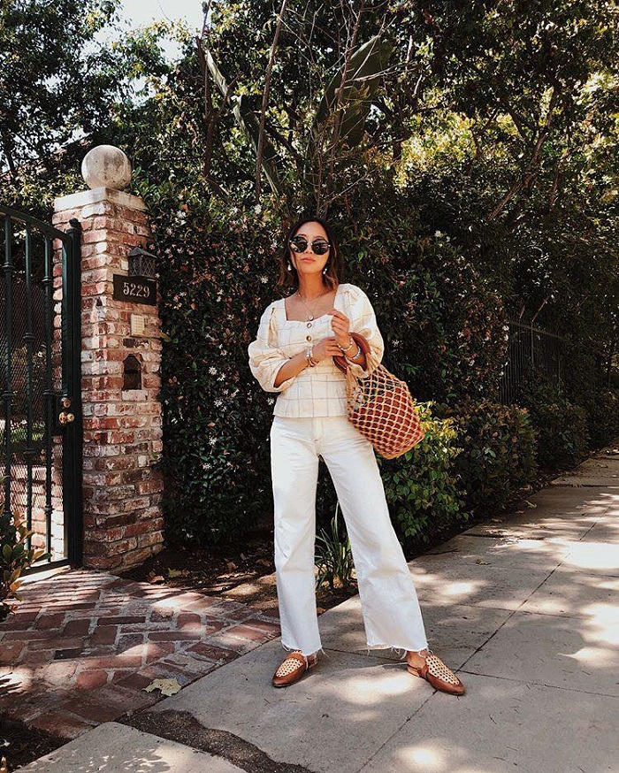 Make White Jeans Look Cool Again With These 16 Looks white jeans white top
