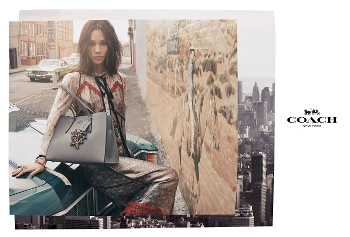 Selena Gomez Fronts Coach's Fall 2018 Ads silver jacket pants grey bag