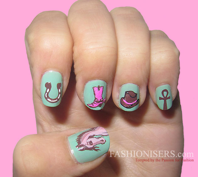 Cute Horse Nail Art Designs